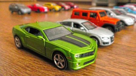 手动推进炫彩金属小汽车玩具