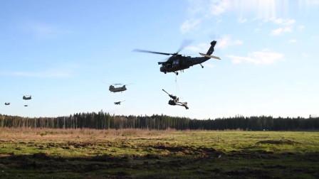 美国陆军野战炮兵团在爱沙尼亚进行机降突袭训练(3339)