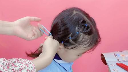儿童短发如何扎上学发型?教你这样扎,好看又简单