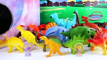 侏罗纪恐龙过传送门变成恐龙变形蛋玩具