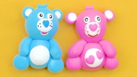 DIY手工:用橡皮泥制作迷你粉色小熊