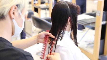 """37岁女性长发剪短""""锡纸染"""",想不到这么美,减龄气质翻倍"""