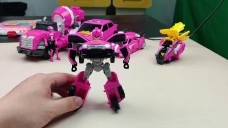 迷你特工队玩具测评,露西的大小机甲比个子,谁高呢?