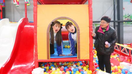 """游乐园1:傻妞小梦游乐园玩耍,结果小梦却被""""嫌弃"""",逗"""