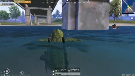 智玩酱:决赛圈主播被困在水中,三个小嘎嘎围攻过来,这可咋整