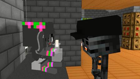 我的世界动画-小凋灵骷髅的生活
