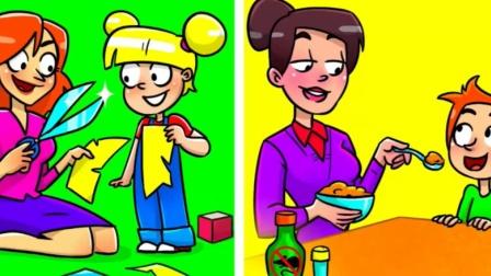 脑力测试:照顾孩子的妈妈,谁是假冒的?