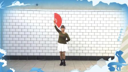 响扇《我是一个兵》编舞教学杜品静 古洼杜品静广场舞