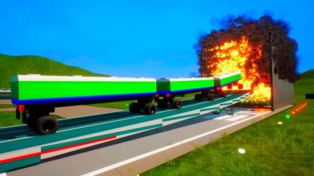 大货车挑战巨型防火墙,它能成功闯关吗?画面太劲爆!
