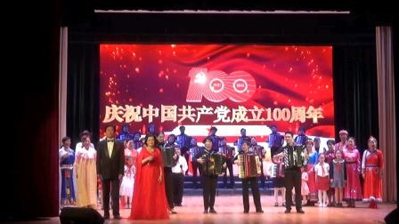 庆祝中国共产党成立1000周年文艺演出,全国京剧票友和平杯金奖获得者吴似雯饰方海珍。2021年5月9日上海五里桥文化中心舞台。