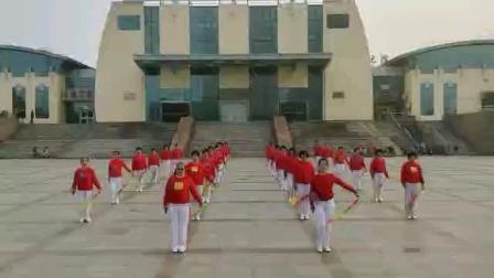 没有共产党就没有新中国(乐陵柔力球队展演)2021.5.13号