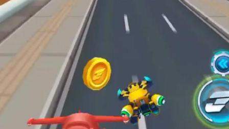 超级飞侠跑酷-乐迪撞飞巴士,只是为了加快送包裹的时间