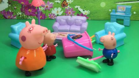 乔治搞破坏,猪妈妈整治乔治!