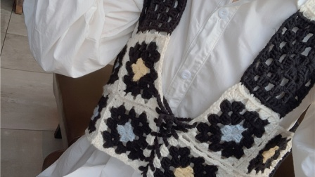 【小月手作 第173集】钩针编织毛线马甲 祖母方格马甲背心视频基础教程