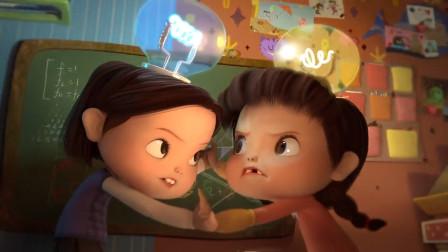 小女孩头上长个灯泡,灯越亮智商越高,8岁就会大学数学题!