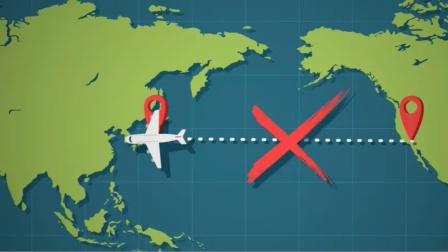 飞往美国的航班,为何绕圈也不飞跃太平洋?科学解释原理