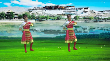 晨霞广场舞 天上西藏