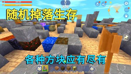 迷你世界:随机掉落生存,方块应有尽有,凿出蜜蜂小迷被蛰成猪头