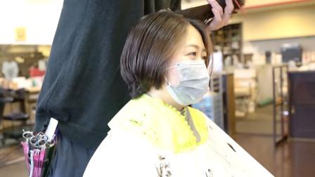 """41岁女性长发剪成""""鲍勃头""""短发,显高有气质,越看越年轻"""