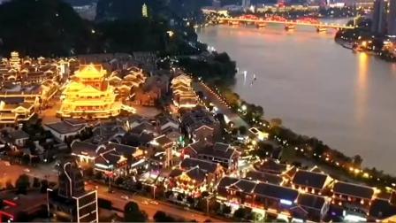 广西柳州市的傍晚