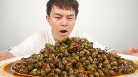 螺蛳粉里竟没有螺蛳肉,小伙怒炒5斤螺蛳一次性吃到够,真解馋