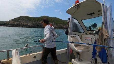 经常钓淡水的阿杰稍微指点一下,马上进入狂拉模式,直呼海钓刺激