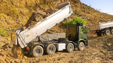 金属大卡车运输沙土