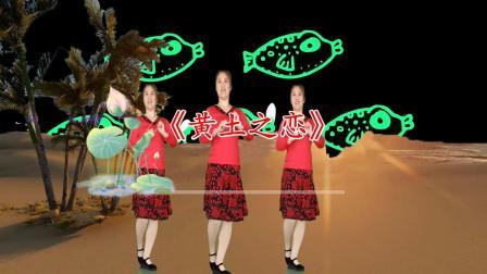一首DJ版广场舞《黄土之恋》歌词甜美,舞蹈简单好看