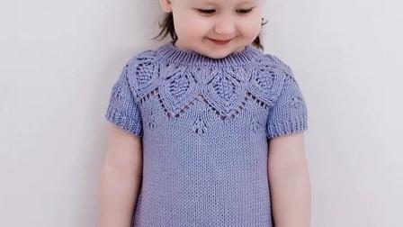 【上集】兔兔编织坊艾丽儿童连衣裙毛线棒针DIY编织教程