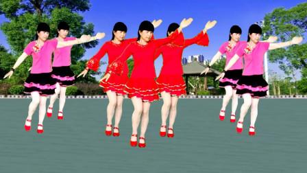 广场舞《幸福的爱你一辈子》歌曲甜蜜温馨,舞蹈简单易学
