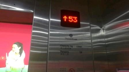 成都天紫界国际公寓蒂森克虏伯电梯上行(-4/F-55/F)