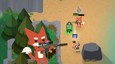 小动物之星:老虎拿着枪,都开始玩吃鸡游戏了!