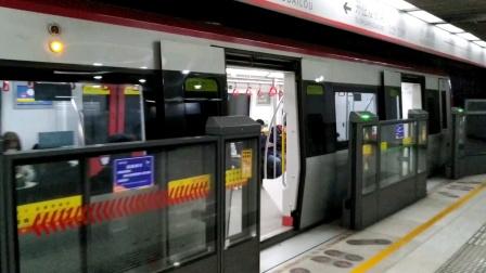 天津地铁1号线dkz9二次车(新车)出小白楼站,中车时代IGBT-VVVF