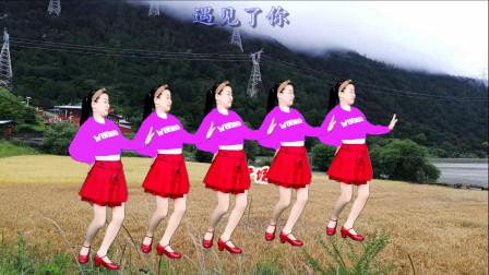 网红情歌广场舞《爱你到天荒地老》优美动听,句句入心,百看不厌