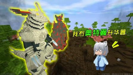 """迷你世界:获""""奥特曼升华器"""",遇两只巨大怪兽,能否平安归来?"""