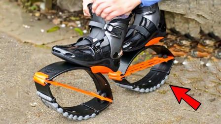 """国外发明最新""""跑鞋"""",穿上后能跳一米高,成为未来短路代步工具?"""