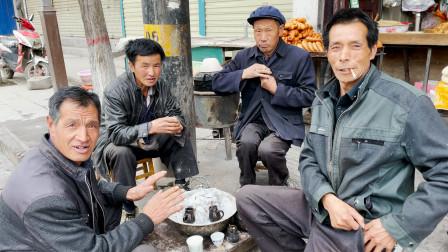 甘肃1元罐罐茶,凌晨出摊天明打烊,烤火喝茶一条龙,体验全国最低价