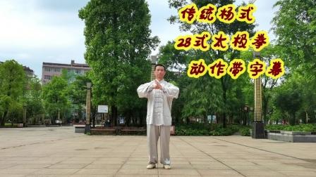 佛系传统杨式精练28式太极拳英山步步清风日常晨练配乐我的家在英山欢迎拳友视频下方留言指导