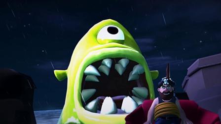 噩梦伙伴01:坠入神奇的梦境,大怪物被扎瞎了眼睛!
