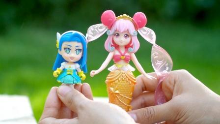 巴啦啦小魔仙娜希雅坐骑精灵套账,女孩喜欢的公主玩具开箱试玩