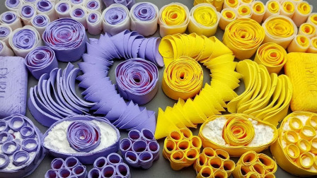 DIY创意皂花,优雅紫VS活力黄,声音解压,喜欢吗?