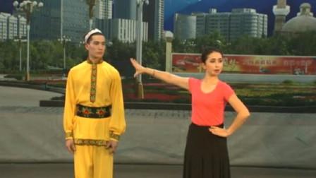 米克拉依老师维吾尔族舞蹈教学:《跳吧》男子动作分解