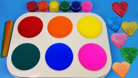 魔法染料盘魔力72变,儿童色彩认知给棒棒糖着色学习认识颜色!