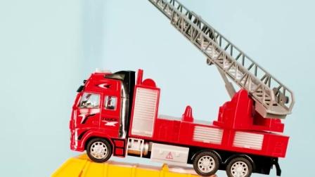 工程车玩具 挖掘机小货车消防车叠高高