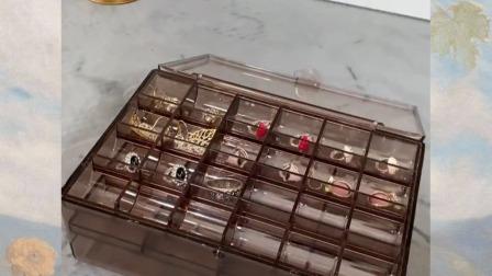 小耳环,大项链,手镯都可以收纳到这个盒子