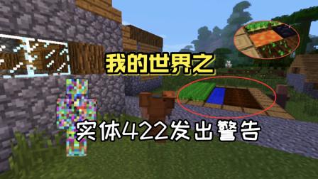 我的世界:实体422向玩家发出警告,菜园中的水也被岩浆所取代!