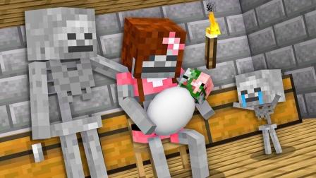 我的世界MC动画:骷髅的故事,小骷髅打败坏蛋僵尸猪