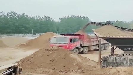 这才是老司机,美女不仅会开装载机还会开大货车,厉害!
