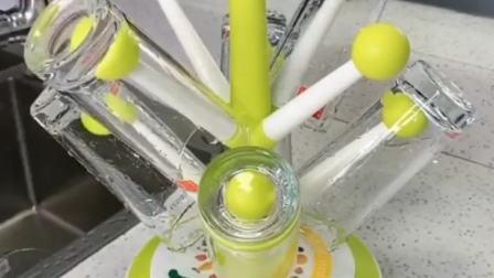 杯子太多无处安放清洗麻烦,赶紧用这个颜值非常高的多功能杯架!