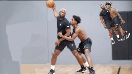 篮球世界:退役后的韦德再现球场与儿子扎伊尔斗牛,用自己的方式鼓励爱子进步!